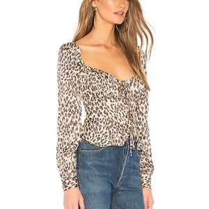 NWT majorelle Waldorf tip in leopard tan xxs